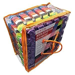 puzzlematte kinderspielteppich spielmatte spielteppich schaumstoffmatte kinderteppich und tasche. Black Bedroom Furniture Sets. Home Design Ideas