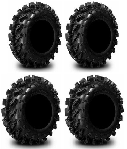 Interco Reifen (Full Set of Interco Swamp Lite 26 x 9 – 12 and 26 x 10 – 12 ATV Tiers (4) by POWERSPORTS Bundle)