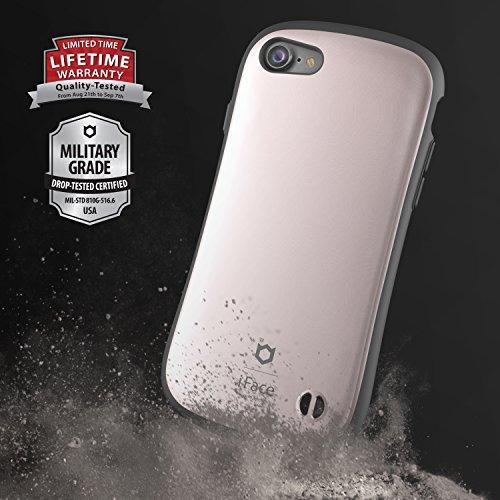 IPhone 7 Case e Car Holder, caso duro iFace [Duo Series] 2in1 robusta protezione con Magnetic Air Vent Car Mount Kickstand per Apple iPhone 7 (2016) - grigio canna di fucile Rose Gold