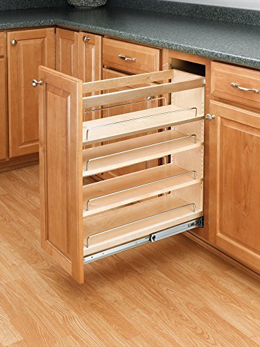 Rev-A-Shelf-448-BC-8C-Base-Cabinet-Pullout-Organizer-with-Wood-Adjustable-Shelves-Sink-Base-Accessories-8-Inch-by-Rev-A-Shelf