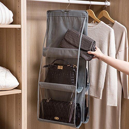lista dei prezzi NNIUK Borsa organizzatore armadio con gancio 6 Tasche traspiranti Storage Bag Organizzatore per Armadio Camera da Letto, 13.7 x 12.6 x 35.4 pollici