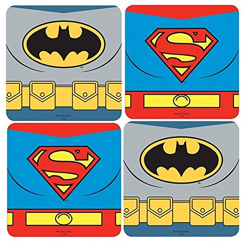 Woman Batman Wonder Kostüm Superman - DC Comics - Untersetzer 4er Set - Batman Vs Superman - Dawn of Justice