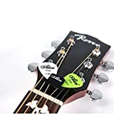 5Pcs Black Guitar Rubber HeadStock Pick ...