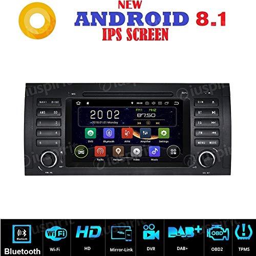 ANDROID 7.1 GPS DVD USB SD WI-FI Bluetooth autoradio navigatore compatibile con BMW E39 / BMW X5 E53 / BMW M5 / BMW E38