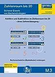 M3 - Rechnen im Zahlenraum bis 20 ohne Zehnerübergang: Sicherer Erwerb von Rechenstrategien, Rechenschwäche (Dyskalkulie) vorbeugen.