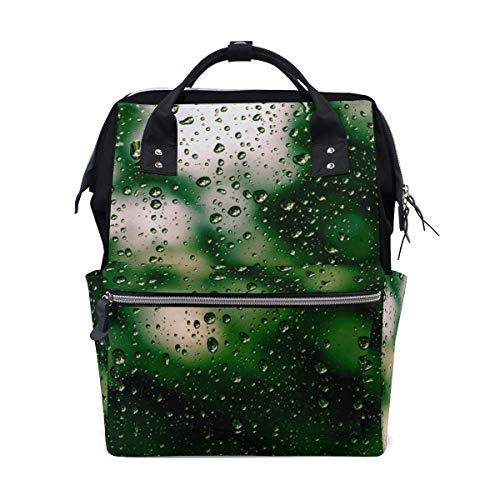 Mochila Rainy Drop Window Art Emotion de gran capacidad, mochila de viaje