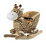 Homcom - Cavallo a Dondolo in Legno Giraffa per Bambini 60 x 33 x...