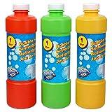 S/O 1Liter Seifenblasenflüssigkeit Nachfüller ideal für Seifenblasen Pistolen Stäbe Seifen Blasen Lauge
