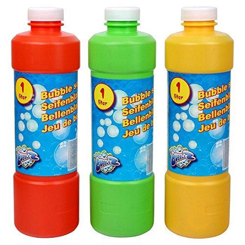 S/O 1Liter Seifenblasenflüssigkeit Nachfüller ideal für Seifenblasen Pistolen Stäbe Seifen Blasen Lauge (0112)