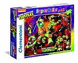 Clementoni 23658 - Maxi Puzzle Ninja Turtles, 104 Pezzi