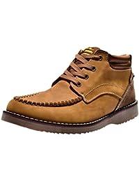 Insun Zapatos de Cordones de Material Sintético Para Hombre, Color Gris, Talla 7.5 UK