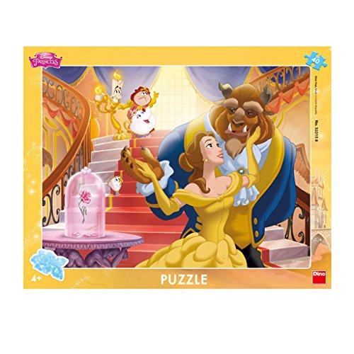 wertiger Schreibtisch Puzzles mit Rahmen Disney Princess Motiv, 40 Stück (Die Schöne Und Das Biest Party Supplies)