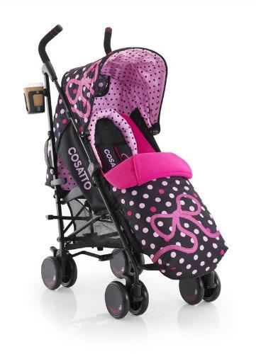 Cosatto Supa Bow How - Silla de paseo con manillar ajustable, cesta y capota convertible, multicolor