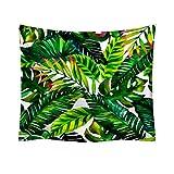 mmzki Asciugamano da Spiaggia Decorativo Nordico in Tessuto con arazzi Nordic pianta Verde 12 150x130