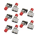 DealMux 10Pcs AC250 5A 3 Terminals 1NO 1NC Wechsler Push Button Miniatur-Schalter KW12-D428