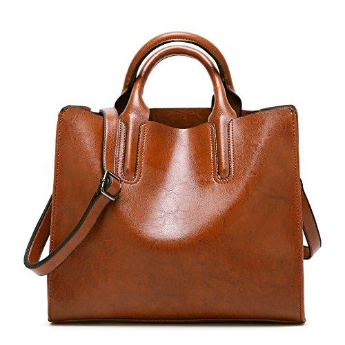 Bag Salon-UK, Borsa a tracolla donna small, Dark Grey (grigio scuro) - L302 Dark Green