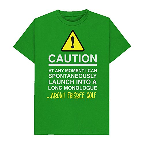 Caution - at Any Moment I Can Monologue About. Frisbee Golf - Hobbies - Tshirt - Shaw T-Shirts - Sizes Small to 2XL