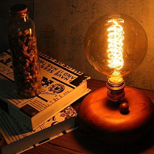 Elfeland 40W Lampadina Edison, Lampadine Vintage Retro Stile Lampade Decorativa, Globo Filamento ...