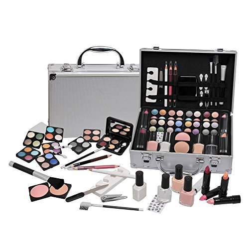 68 Piece Vanity Case Make Up Manicure Set Storage Box Beauty Cosmetic Gift Christmas