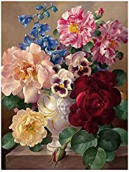 Paint by Numbers for Adults & Kids, Paint by Numbers Flowers with Brushes and Acrylic Pigment Wall Decor-1