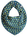 Pippi Baby Dreieckstuch Halstuch Lätzchen in verschiedenen Designs (Sterne lime auf blau)