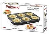 TECHWOOD Crêpespfanne für Mini Crêpes/Pfannkuchen 1500W