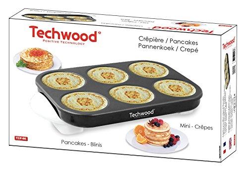 Techwood Crepera para minicrepes/tortitas 1500W
