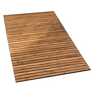 "Kleine Wolke ""Level"" Wooden Mat, Nature, 60 x 115 cm"