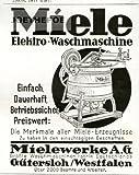 1928 - Anzeige / Inserat auf Hochglanzpapier: MIELE ELEKTRO-WASCHMASCHINE - Format 90x120 mm - alte Werbung / Originalwerbung/ Printwerbung / Anzeigenwerbung