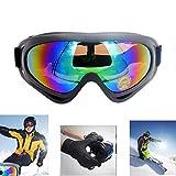 Skibrille Snowboard verstellbar, UV 400 Schutz Motorrad Outdoor Sports Tactical Gläser staubdichten Combat Militär Sonnenbrille für Kinder, Jungen, Mädchen, Jugend, Männer, Frauen