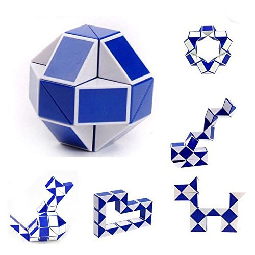 ZyXy Snake Speed Cube 24 Parts 3D Puzzle Fidget Cube Toy Twisty Puzzle Twist Magic Ruler Cube Christmas Gifts Stocking Stuffers - Color Random