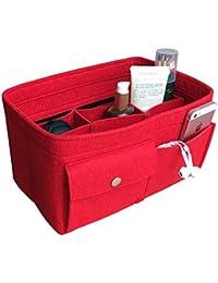 APSOONSELL Felt Bag in Bag Organiser with Zip Bag, Bag Organiser Insert Handbag Fit Speedy 30,