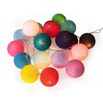 atelier de famille guir 12 guirlande lumineuse int rieur boule coton batch of 20 multicolore 34. Black Bedroom Furniture Sets. Home Design Ideas