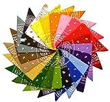 Bandana avec Motif Paisley en 50 Couleur differentes 100% coton