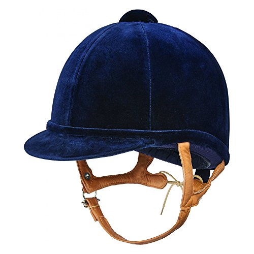 Charles Owen Fian Velvet Riding Hat 57cm navy