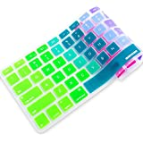 iBenzer - Macaron Serie Rainbow Keyboard Cover Silicone Rubber Skin for Macbook Pro 13'' 15'' 17'' (with or without Retina Display) Macbook Air 13'' and iMac - Rainbow MKC02RB