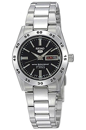 Seiko Damen-Armbanduhr 5 Lady Analog Automatik Grau - Seiko Automatik Uhr 5 Damen