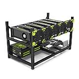 astarin 6-GPU Mining Fall Rig Aluminium stapelbar geliefert Open Air Rahmen Ethereum (ETH)/etc/zcash/monero/BTC Einfache Montage Edition (nur 10Minuten)