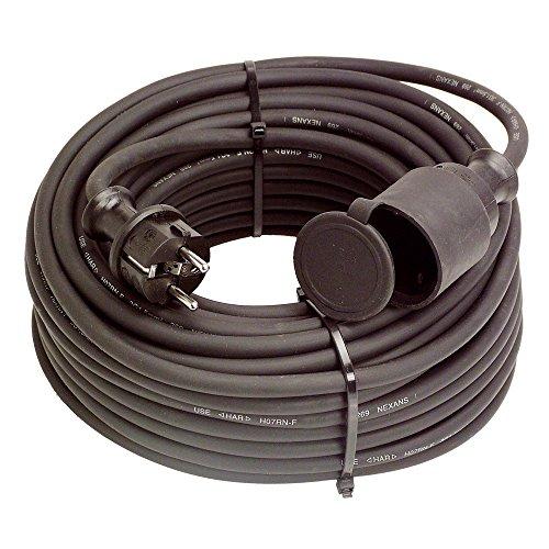 Preisvergleich Produktbild ALLEGRA Stromkabel Verlängerung für den Außenbereich, Strom Verlängerungskabel Außen 20m 220V/16A IP44 H07RN-F 3G 2.5 mm²