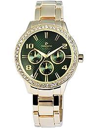 Reloj analógico Timento, de metal, oro verde - 510006000025