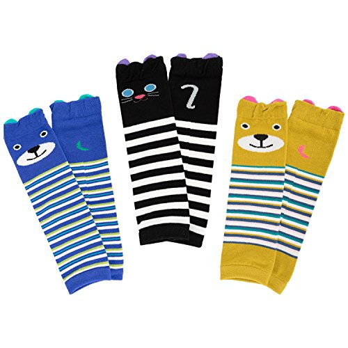 Ateid 3 pair Baby Boys Girls Long Leg Warmers Socks Leggings Toddler Knee Protecter