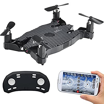 JJRC H49 Drones WiFi FPV Drone With 720P HD Camera Auto Folding Arm RC Quadcopter Altitude Hold/ 3D Fly/ Headless Mode/ Wifi Real-Time Transmission by GEEDIAR