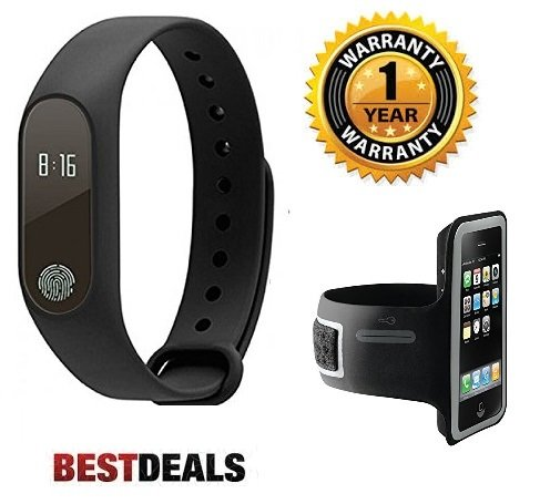Premium Design Micromax Canvas Juice 2 Compatible M2 Smart Band with OLED display, heart rate sensor with Arm Band  available at amazon for Rs.1599