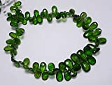 Verde Turmalina Perlas de forma de pera, 5x 7mm-8x 12mm turmalina gem piedra, pera facetado cuentas, Gemstone para joyería, 9pulgadas Strand