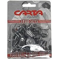 Cartasport Unisex Aluminio Rugby Studs (Blister Pack DE 16), Plata, 18mm