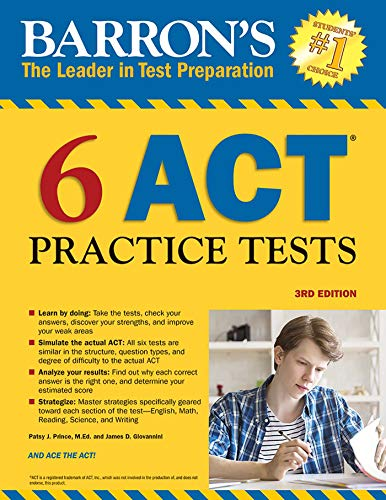 Barron's 6 ACT Practice Tests - Barron Act-test
