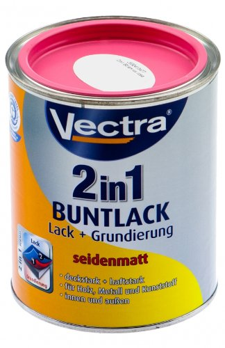 Vectra 3499 2in1 Buntlack Lack + Grundierung Rosa Seidenmatt 750ml (WC32)