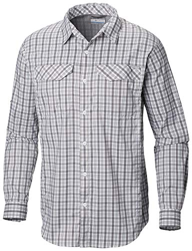 Columbia Silver Ridge Lite Langarmshirt, Herren, Silver Ridge Lite Plaid Long Sleeve Shirt, Cypress Gingham, Small -