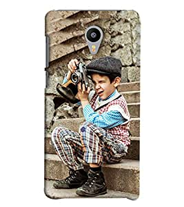 Blue Throat Boy Taking Shot Hard Plastic Printed Back Cover/Case For Meizu M2