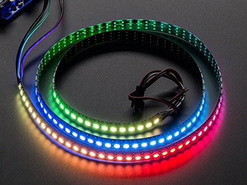 Adafruit NeoPixel Digital RGB LED Strip 144 LED - 1m Black [ADA1506] (High-output-led-chip)